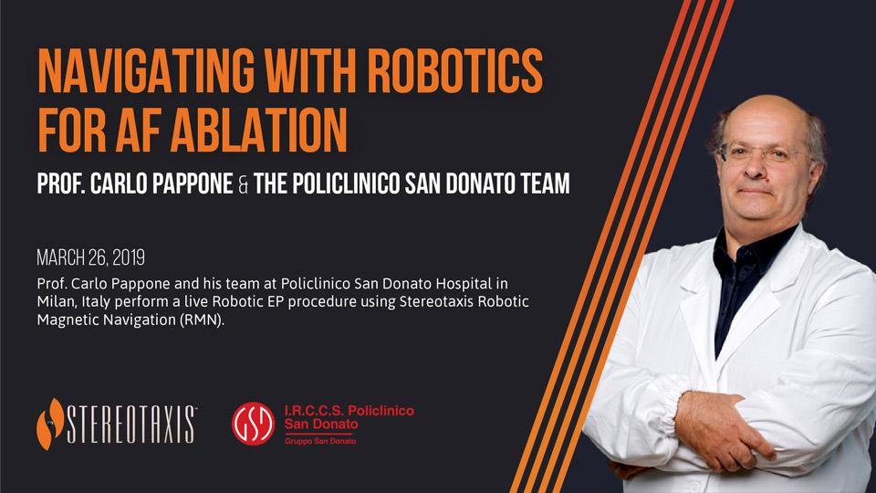 Prof Carlo Pappone Robotic Navigation for AF Ablation