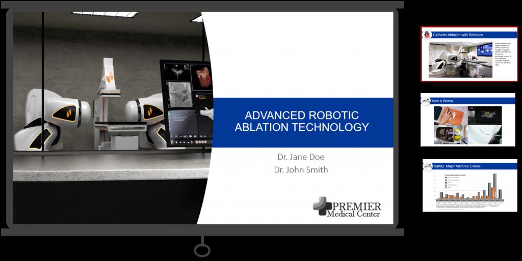Robotic Ablation Presentation Example