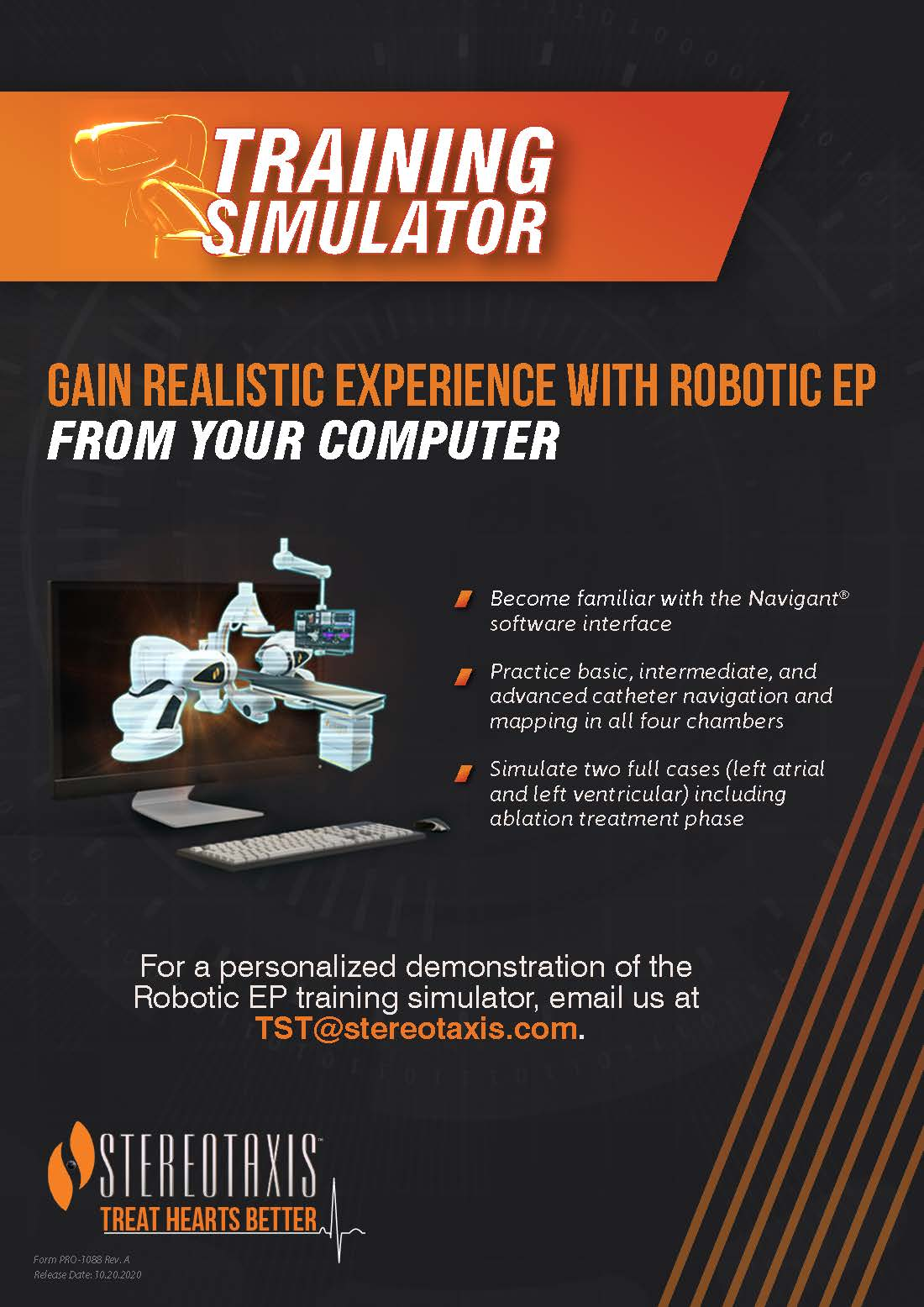 Stereotaxis_Training Simulator Flyer